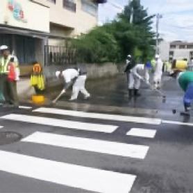 側溝、歩道等の洗浄